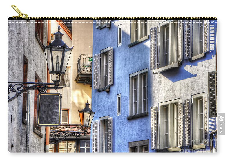 Blue Carry-all Pouch featuring the photograph Blue House by Mats Silvan