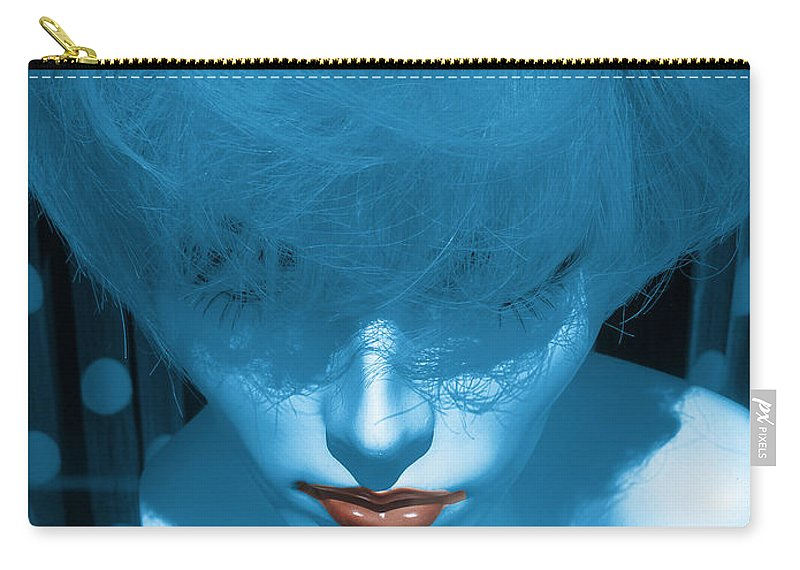 Carry-all Pouch featuring the photograph Blue Kiss by David Pantuso