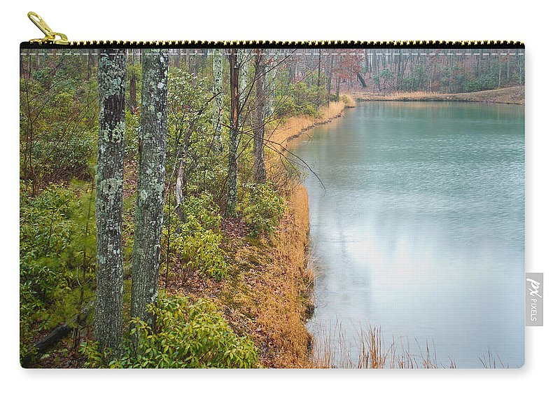 Blue Carry-all Pouch featuring the photograph Blue Lagoon 3 by Douglas Barnett