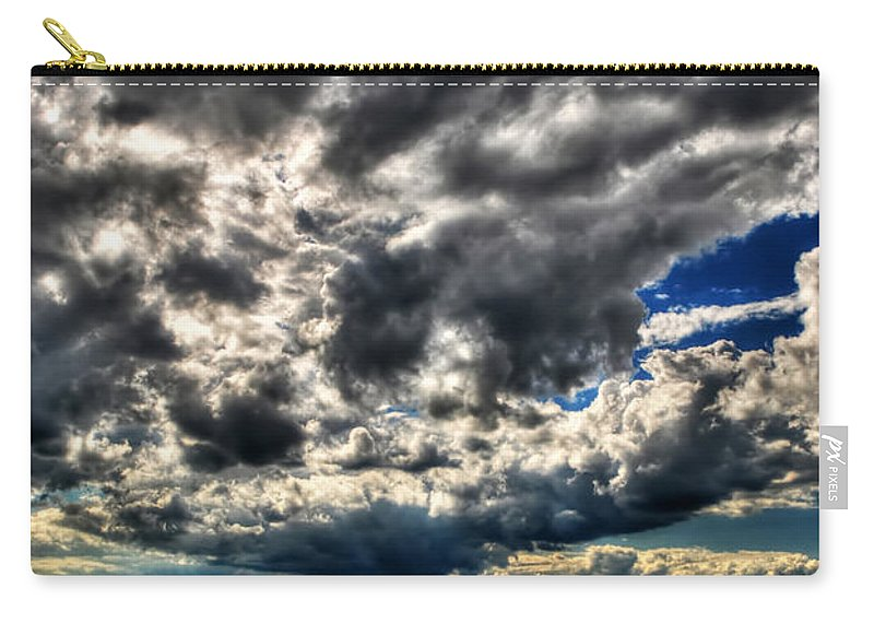 Carry-all Pouch featuring the photograph Blue by Michael Frank Jr