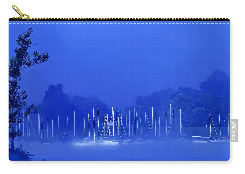 Blue Carry-all Pouch featuring the photograph Blue Mondays by Randall Branham
