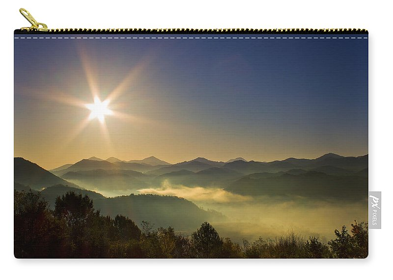 Transylvania Carry-all Pouch featuring the photograph Blue Morning by Mircea Costina Photography
