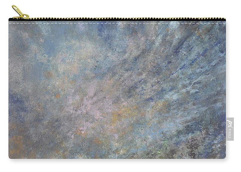 Abstract Carry-all Pouch featuring the painting Blue Nebula #1 by Penny Neimiller