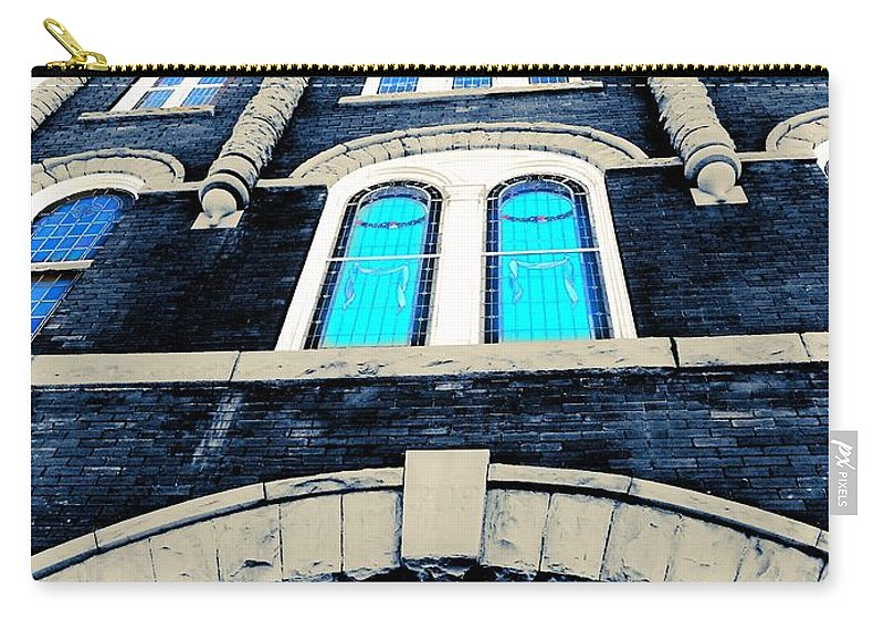 Charleston Sc Carry-all Pouch featuring the photograph Blue On Blue by Barbie Guitard