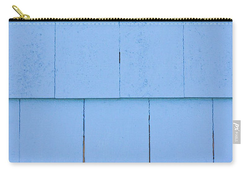 Architecture Carry-all Pouch featuring the photograph Blue Panels by Tom Gowanlock