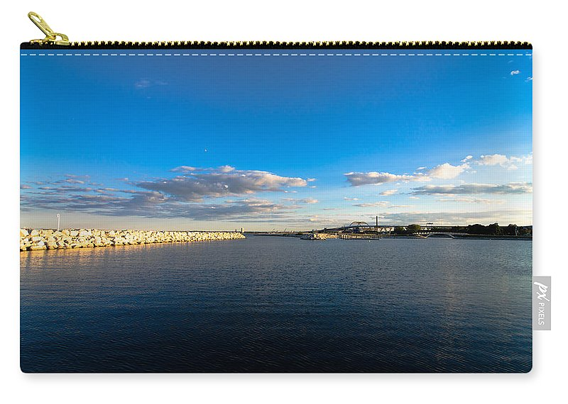 Lakefront Photography Photographs Carry-all Pouch featuring the photograph Blue Skies by Jonah Anderson