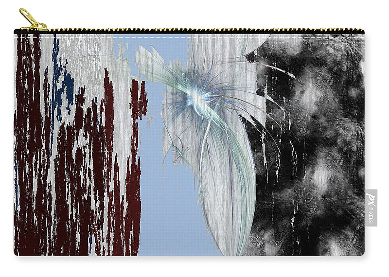 Abstract Carry-all Pouch featuring the digital art Blue Sky by Maciek Froncisz