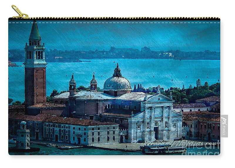 Venice Carry-all Pouch featuring the photograph Blue Venice by Doug Sturgess