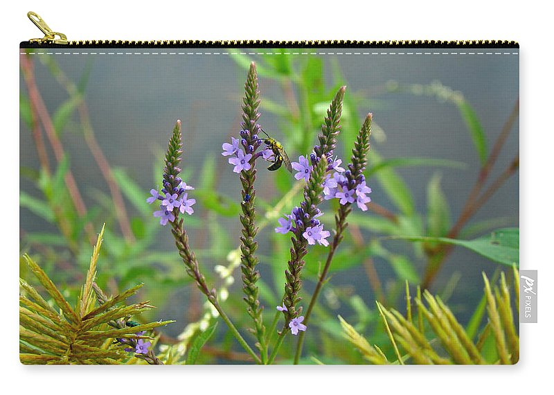 Blue Vervain Carry-all Pouch featuring the photograph Blue Vervain - Verbena Hastata by Mother Nature