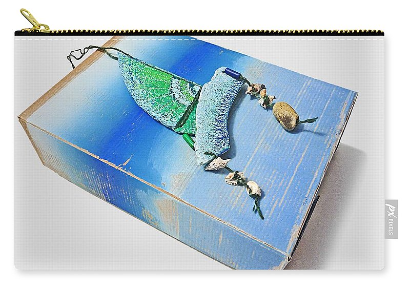 Box Carry-all Pouch featuring the painting Blue Water Sailing by Charles Stuart