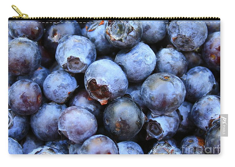 Food Carry-all Pouch featuring the photograph Blueberries by Carol Groenen