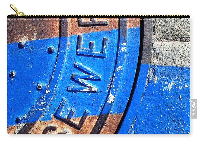 Marlene Burns Carry-all Pouch featuring the photograph Bluer Sewer Three by Marlene Burns