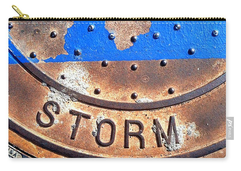 Marlene Burns Carry-all Pouch featuring the photograph Bluer Sewer Two by Marlene Burns