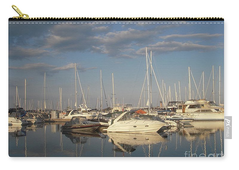 Harbor Carry-all Pouch featuring the photograph Harbor Cams by Vesna Antic
