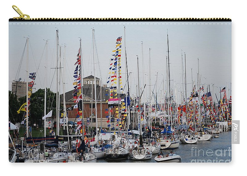 Boat Night Carry-all Pouch featuring the photograph Boat Night by Grace Grogan