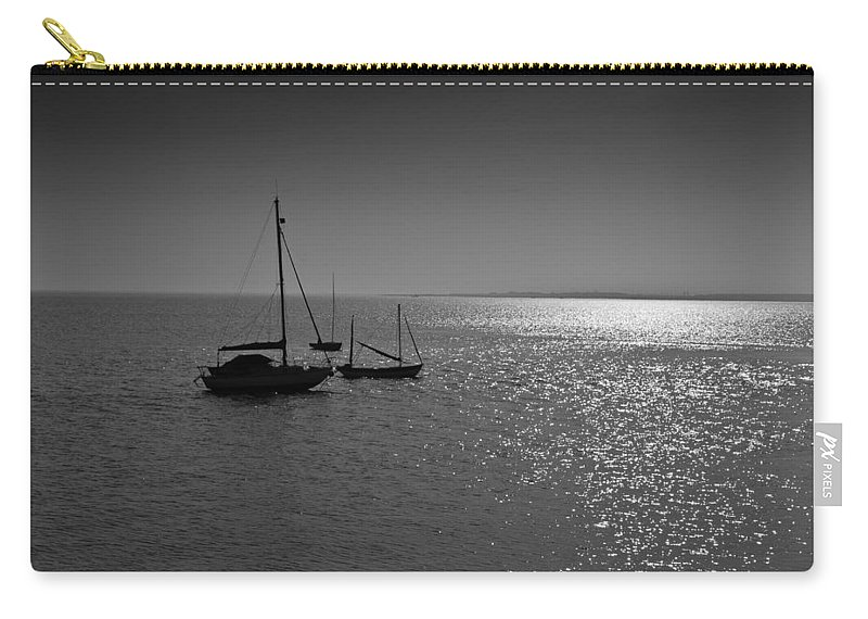 Dinghie Carry-all Pouch featuring the photograph Boats Moored Off Of Leigh Essex by David Pyatt