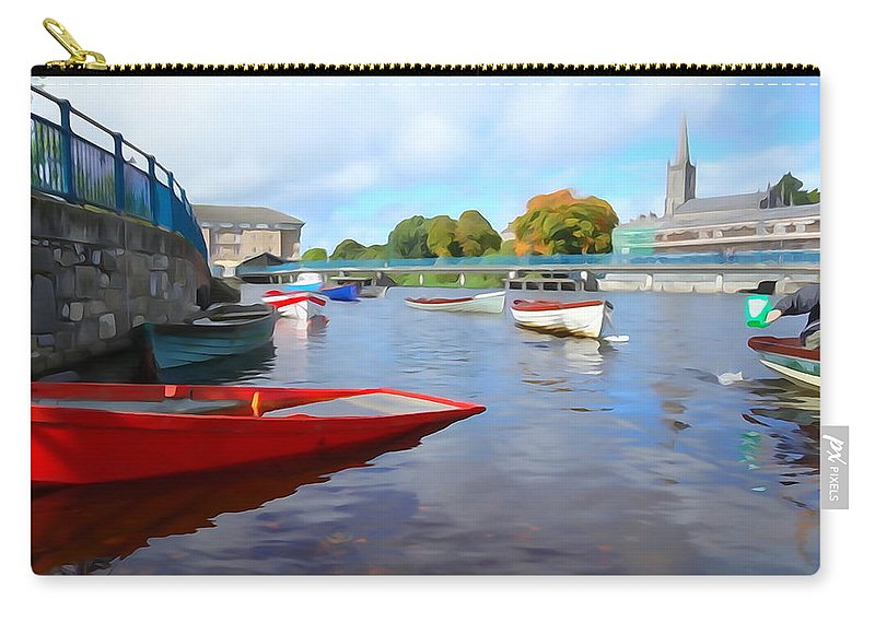 Salmon Carry-all Pouch featuring the photograph Boats On The Garavogue by Charlie and Norma Brock
