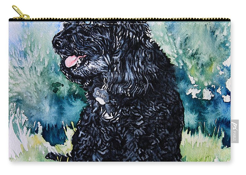 Pet Portrait Artist Carry-all Pouch featuring the painting Bobbi by Hanne Lore Koehler