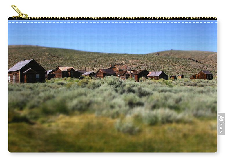 Bodie Ghost Town Landscape Carry-all Pouch featuring the photograph Bodie Ghost Town Landscape by Chris Brannen