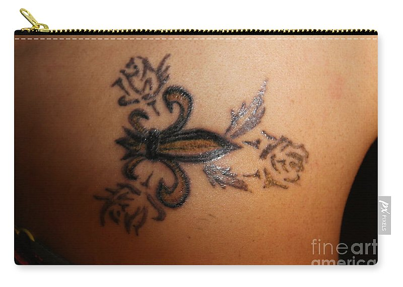 Tattoo Carry-all Pouch featuring the painting Body Art by Thomas Oliver