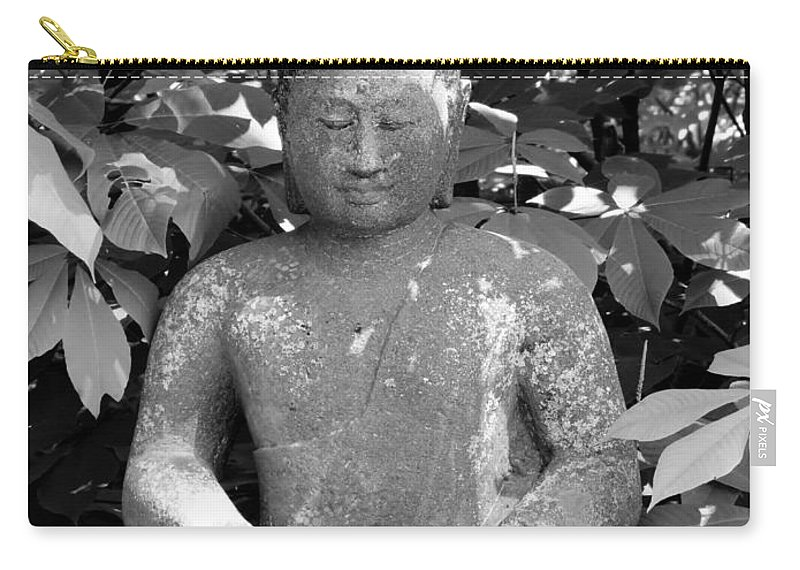 Nature Photographs Carry-all Pouch featuring the photograph Bold Buddah by Art Dingo