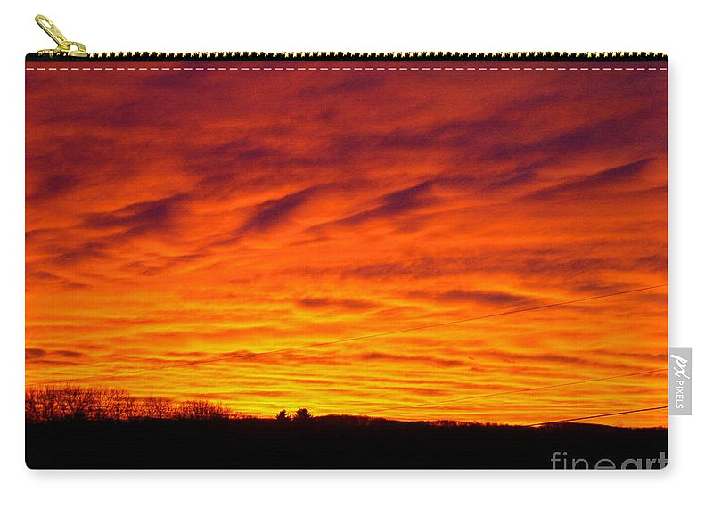Sunset Carry-all Pouch featuring the photograph Bold Sunset by Mark Dodd