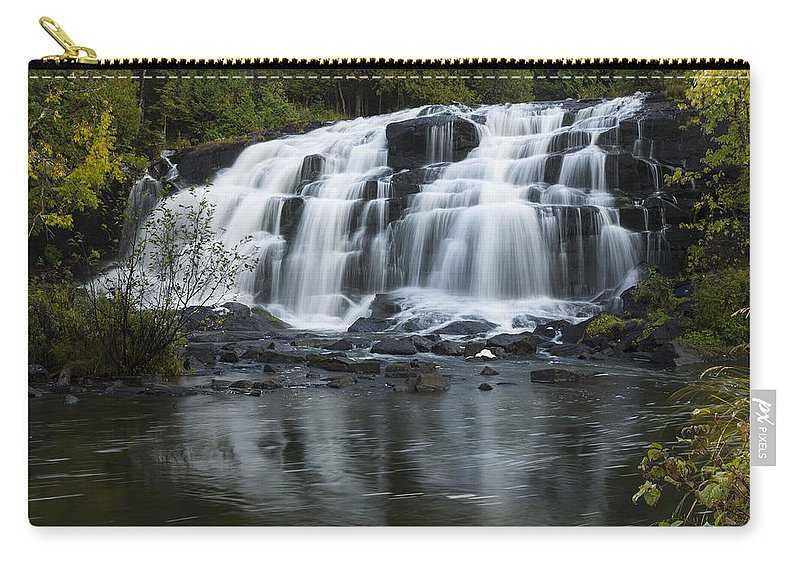 Bond Carry-all Pouch featuring the photograph Bond Falls 1 by John Brueske