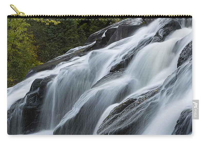 Bond Carry-all Pouch featuring the photograph Bond Falls 10 by John Brueske