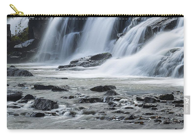Bond Carry-all Pouch featuring the photograph Bond Falls 7 by John Brueske