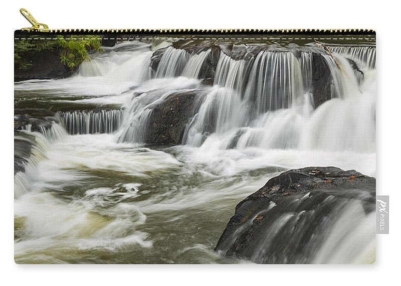 Bond Carry-all Pouch featuring the photograph Bond Falls Upper 4 by John Brueske