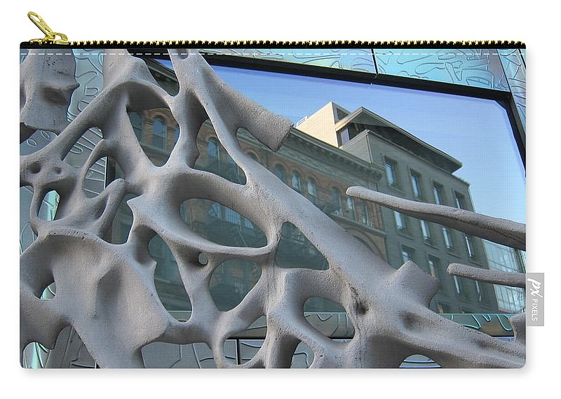 Reflections Carry-all Pouch featuring the photograph Bond Street Sculpture by Stefa Charczenko
