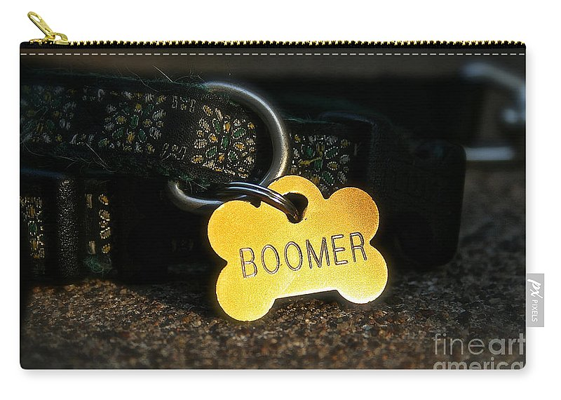 Animal Carry-all Pouch featuring the photograph Boomer Gear by Susan Herber