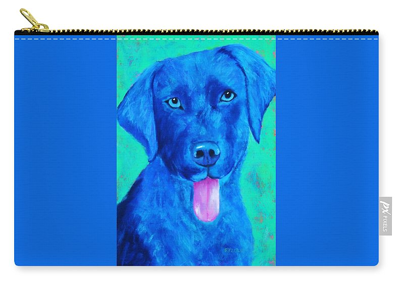 Lab Carry-all Pouch featuring the painting Boomer by Melinda Etzold