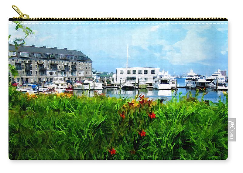 Boston Carry-all Pouch featuring the photograph Boston Scene- Boston City Art by Lourry Legarde
