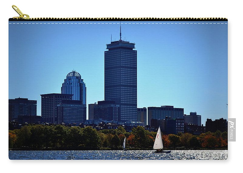 Boston Carry-all Pouch featuring the photograph Boston Skyline 2 by Kevin Fortier