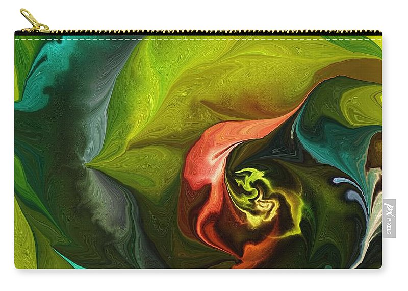 Fine Art Carry-all Pouch featuring the digital art Botanical Fantasy 011512 by David Lane