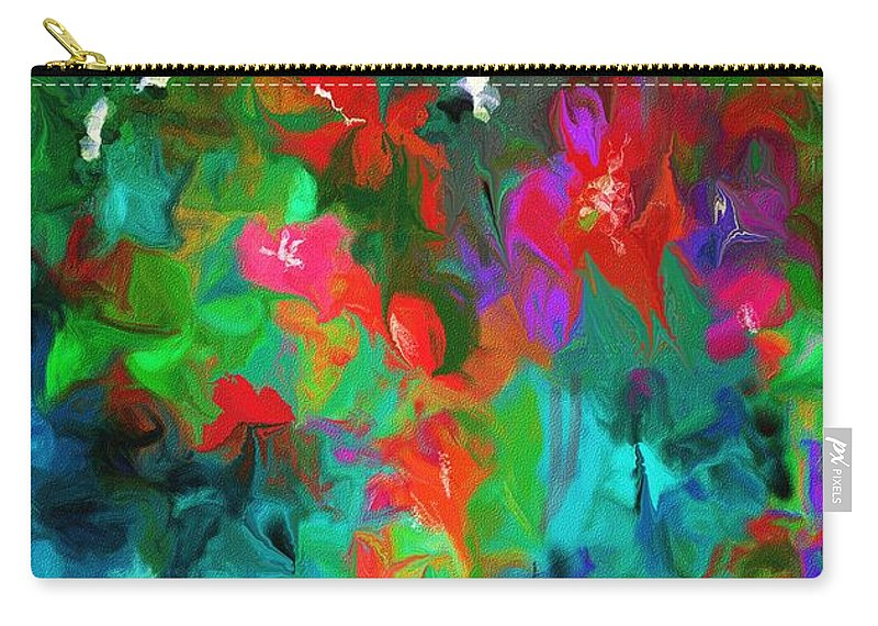 Fine Art Carry-all Pouch featuring the digital art Botanical Fantasy 103112 by David Lane