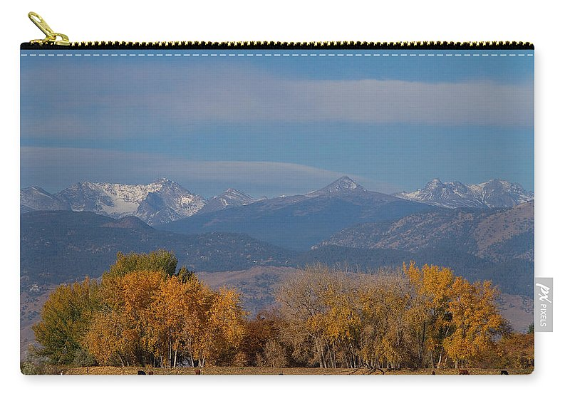 'front Range' Carry-all Pouch featuring the photograph Boulder County Colorado Continental Divide Autumn View by James BO Insogna