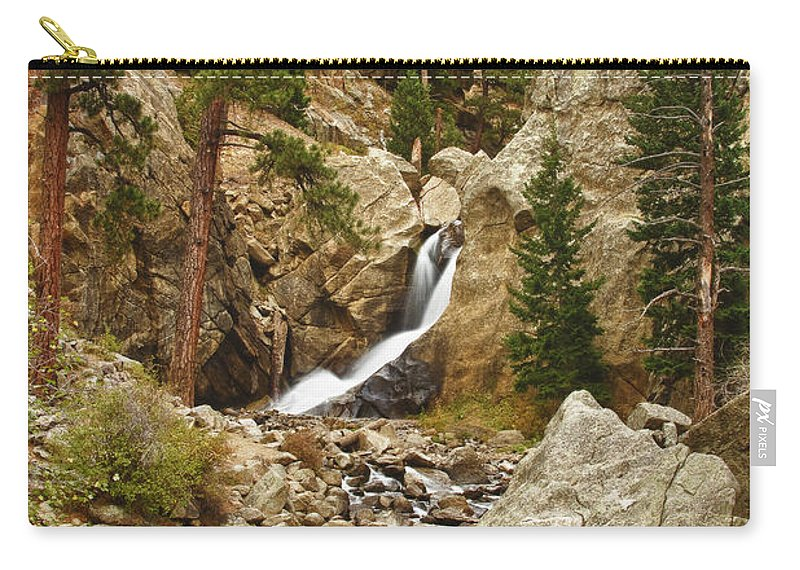 Colorado Carry-all Pouch featuring the photograph Boulder Falls Long View by James BO Insogna