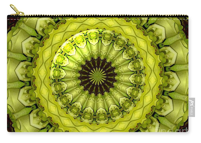 Yellow Roses Carry-all Pouch featuring the photograph Bouquet Of Roses Kaleidoscope 11 by Rose Santuci-Sofranko