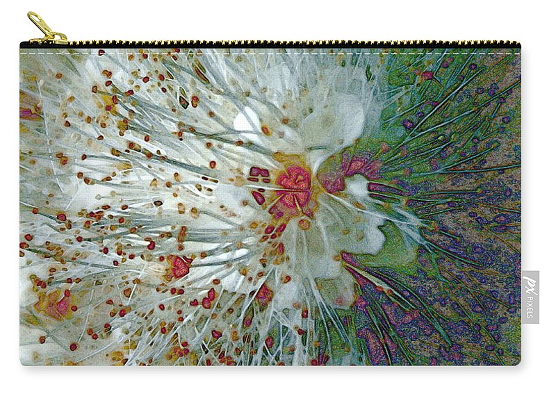 Flowers Carry-all Pouch featuring the photograph Bouquet of Snowflakes by Jo Smoley