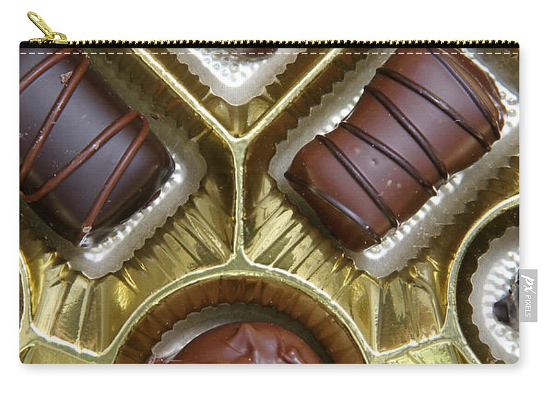 Box Carry-all Pouch featuring the photograph Box Of Chocolates by Photo Researchers