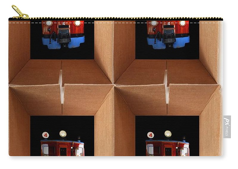 Cross Carry-all Pouch featuring the painting Boxcar by Charles Stuart