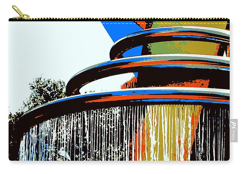 Fountain Carry-all Pouch featuring the photograph Boyd Plaza Fountain by Samantha Glaze