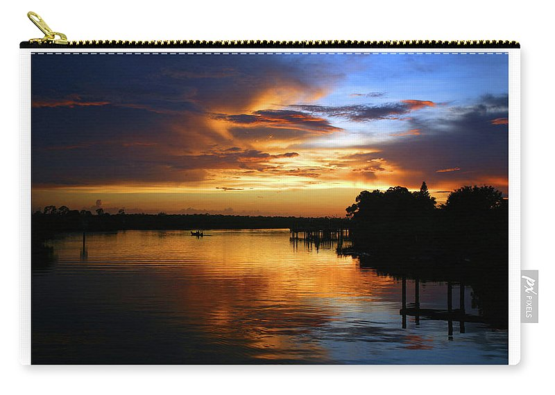 Landscape Carry-all Pouch featuring the photograph Braden River Sunset by Mal Bray