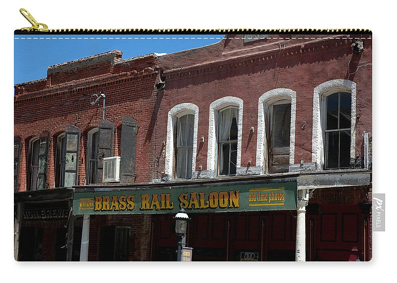 Usa Carry-all Pouch featuring the photograph Brass Rail Saloon by LeeAnn McLaneGoetz McLaneGoetzStudioLLCcom