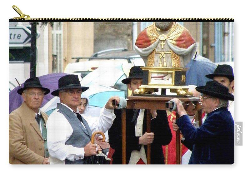 Festival Carry-all Pouch featuring the photograph Bravades De Saint Clement by Lainie Wrightson