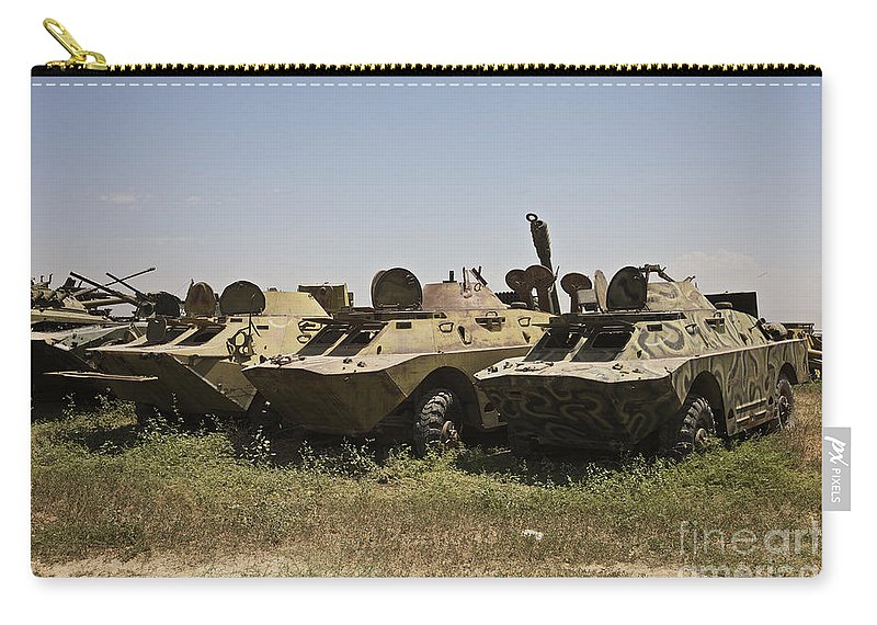 Vehicle Carry-all Pouch featuring the photograph Brdm-2 Combat Reconnaissancepatrol by Terry Moore