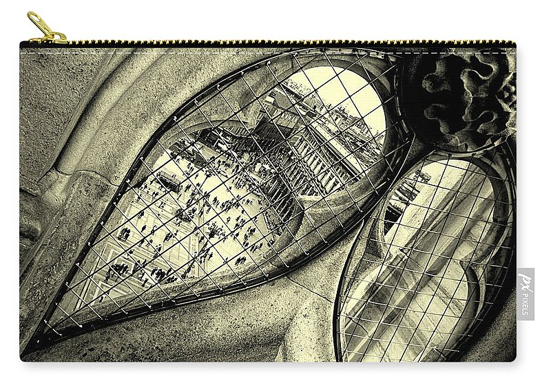 Breach Carry-all Pouch featuring the photograph Breaches by Valentino Visentini