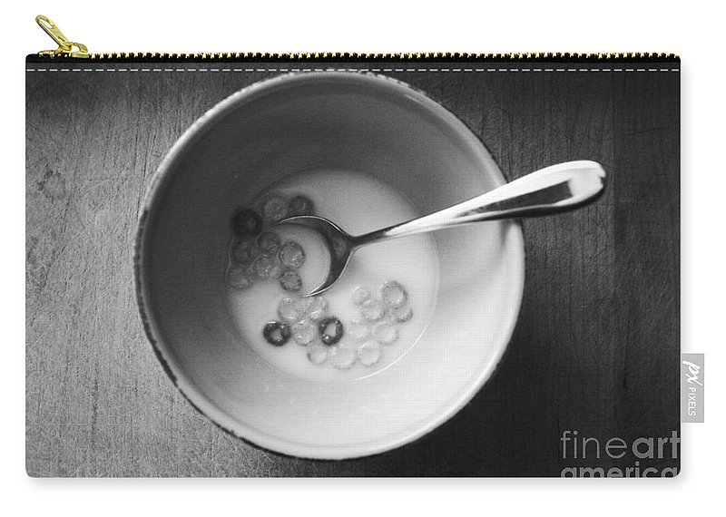 Cereal Carry-all Pouch featuring the mixed media Breakfast by Linda Woods